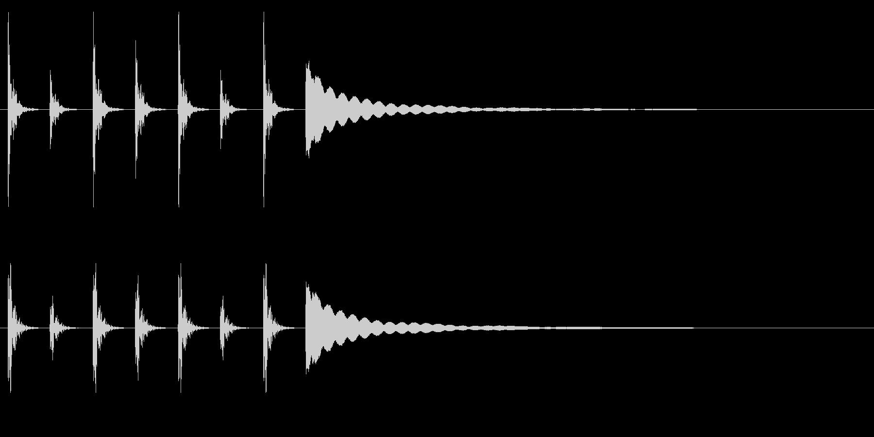 ポクポクチン2木魚・シンキングタイム5秒の未再生の波形