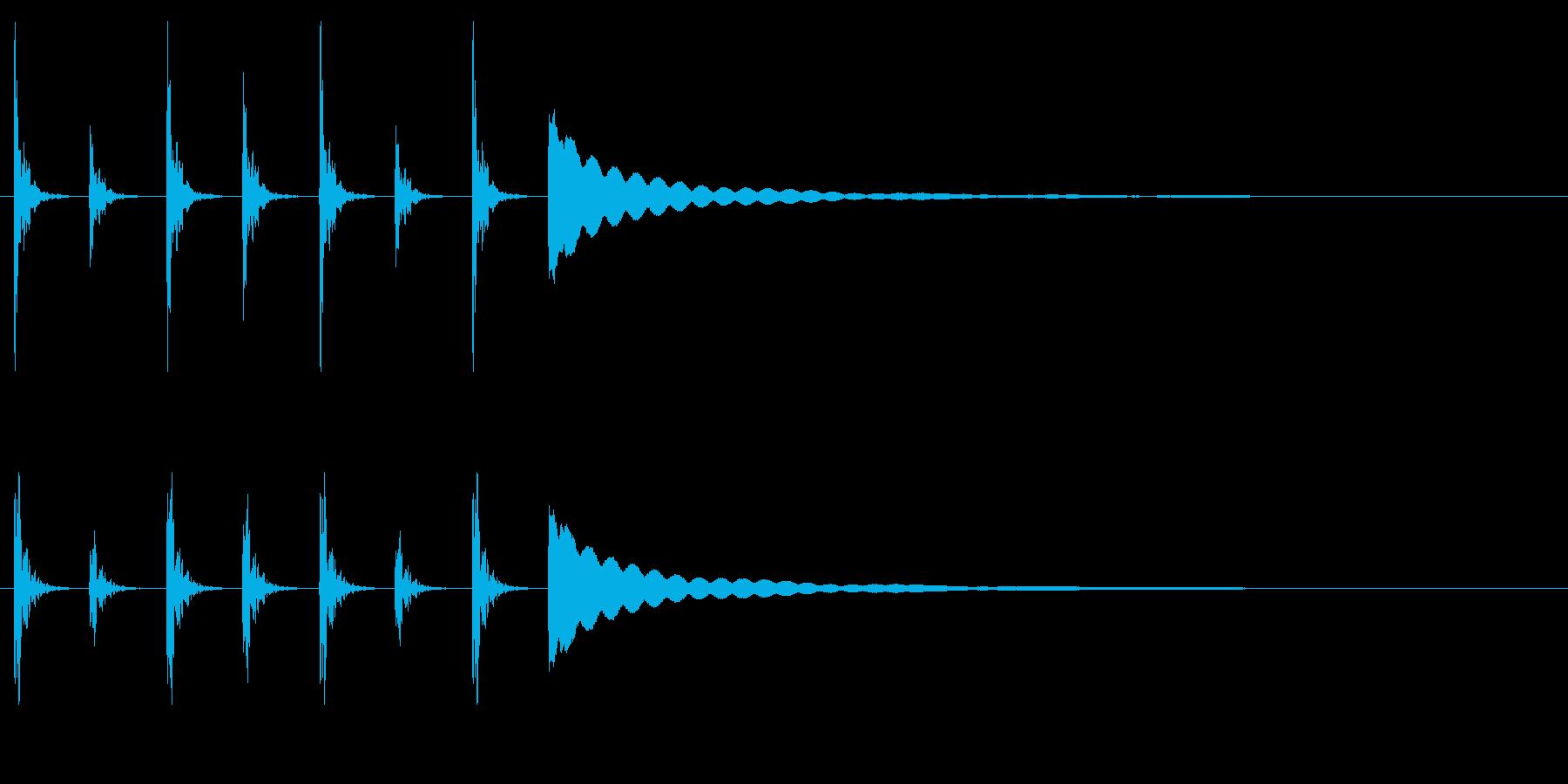 ポクポクチン2木魚・シンキングタイム5秒の再生済みの波形