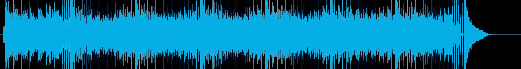 爽やかで近未来的なテクノポップの再生済みの波形