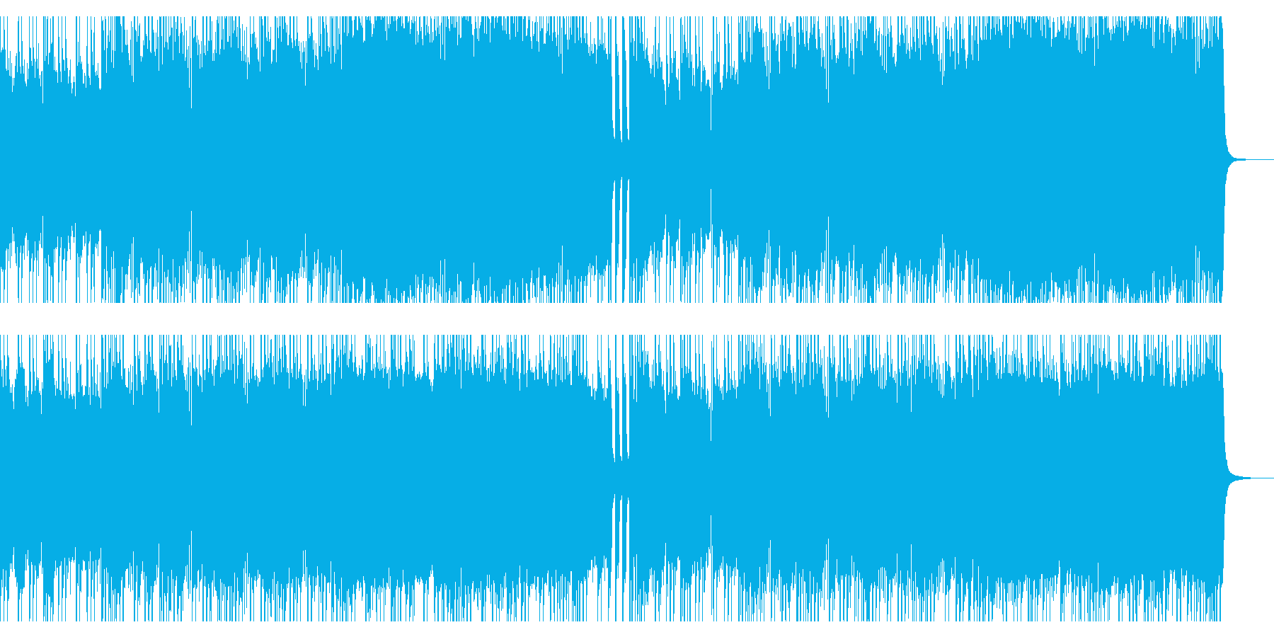 タフでマッチョな感じをイメージしたロックの再生済みの波形