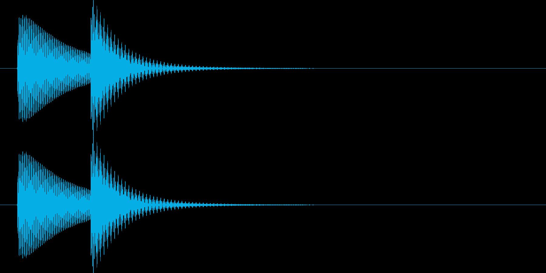 ポコ(ポコン)汎用的なタッチ、クリック音の再生済みの波形
