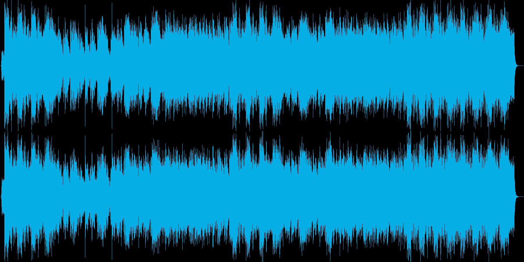 勢いがありエレクトーンが印象的なバラードの再生済みの波形