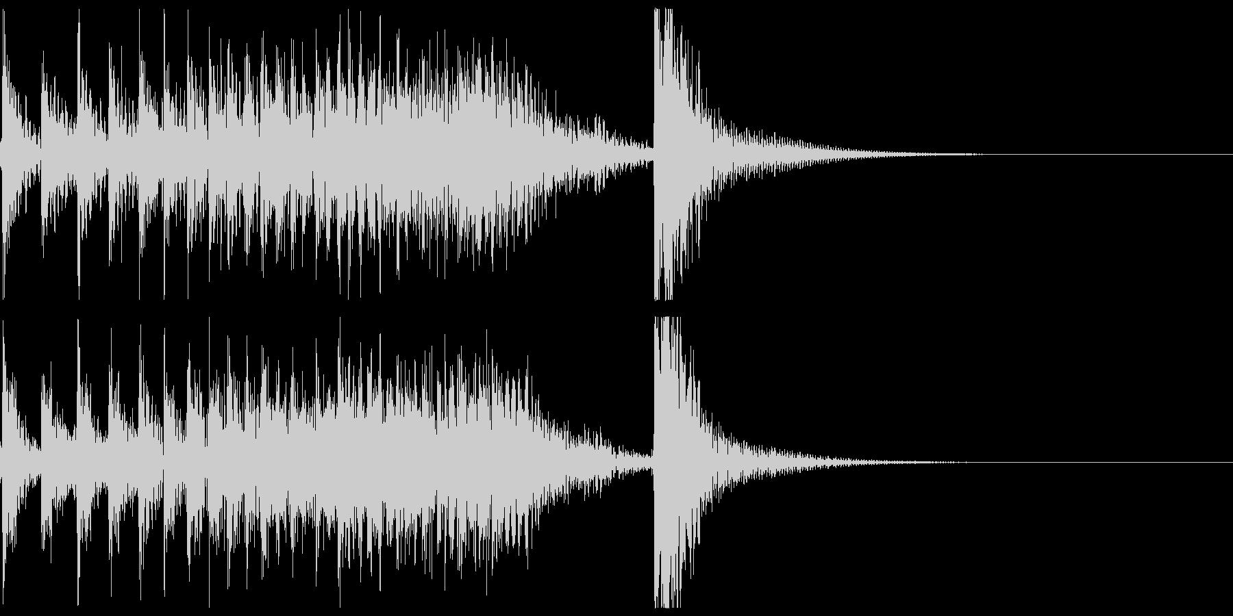 ドコドコ…ドドン!和太鼓ロール/ショートの未再生の波形