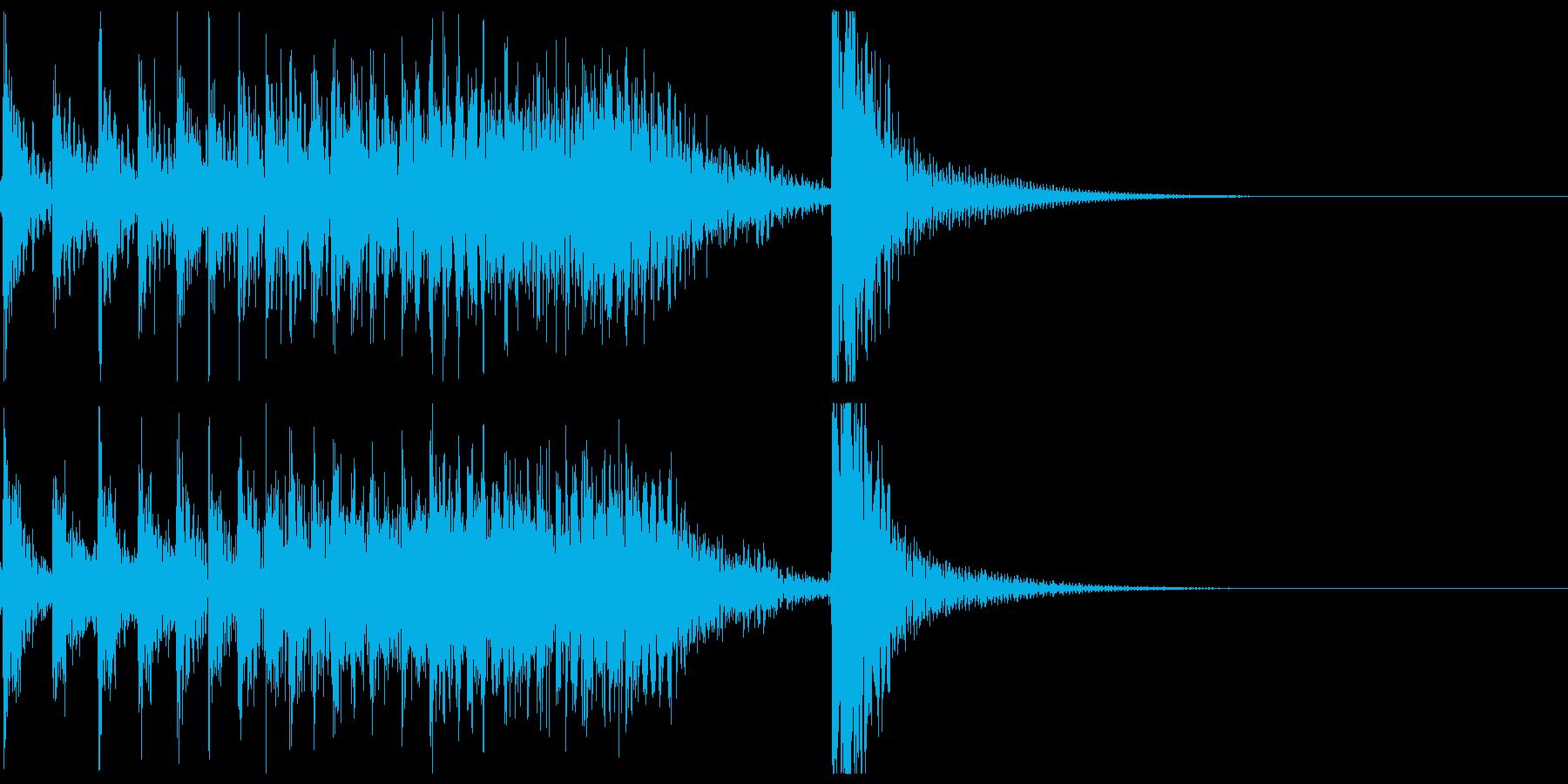 ドコドコ…ドドン!和太鼓ロール/ショートの再生済みの波形
