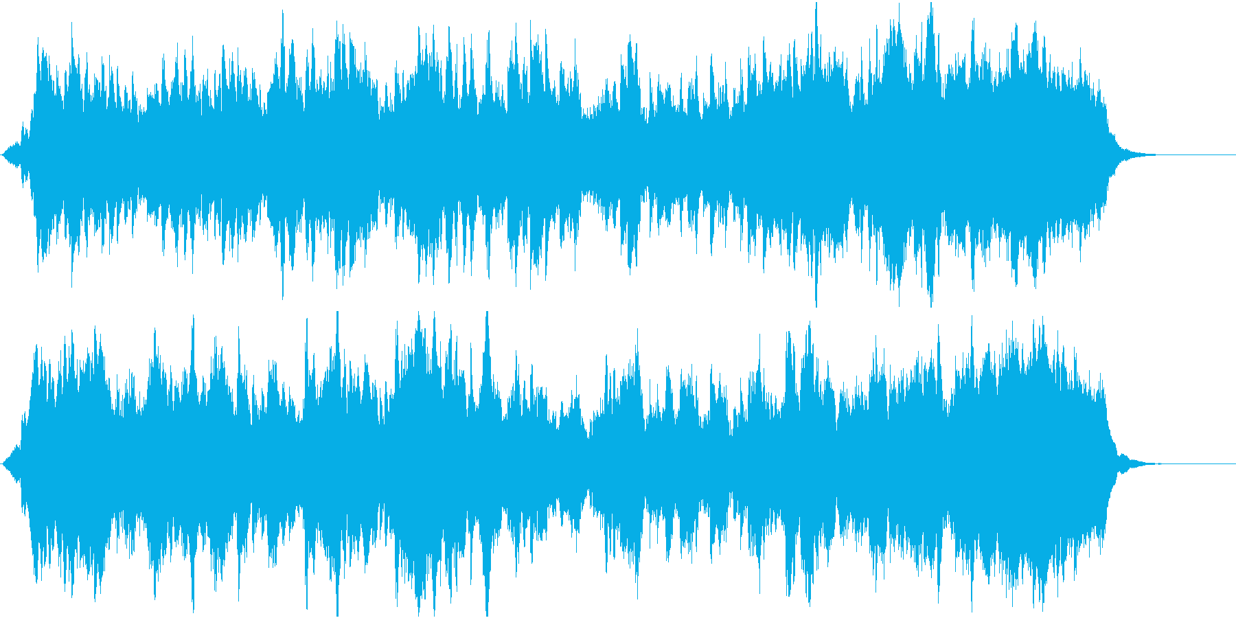 郷愁の場面に優しく前向きなオーケストラ3の再生済みの波形