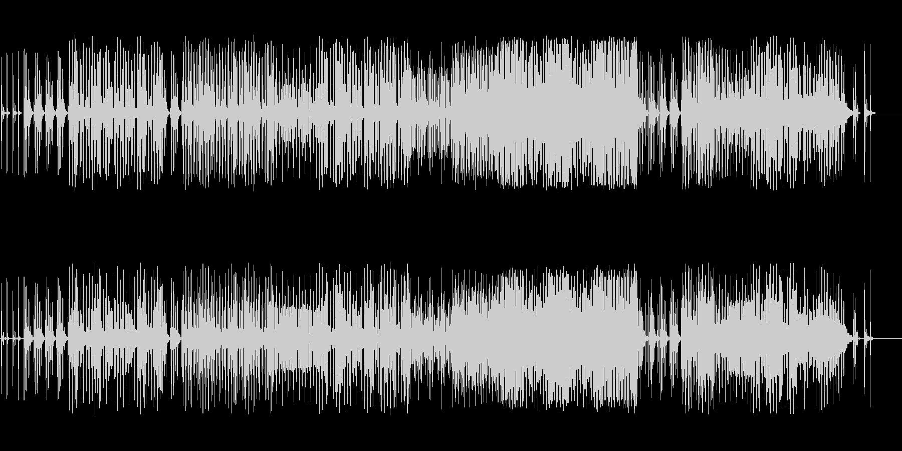 明るいシンセミニマルにピアノのメロディの未再生の波形