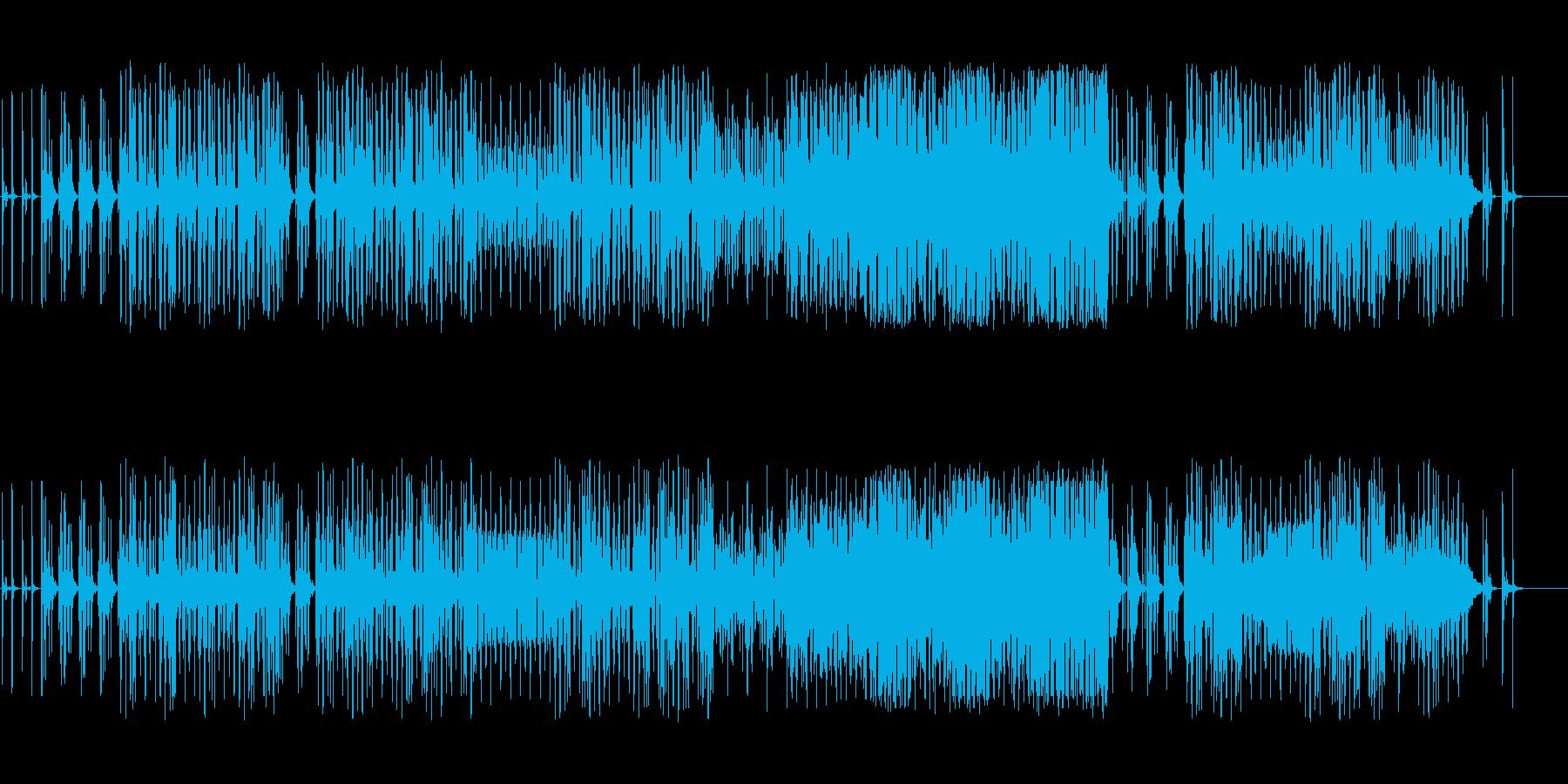 明るいシンセミニマルにピアノのメロディの再生済みの波形