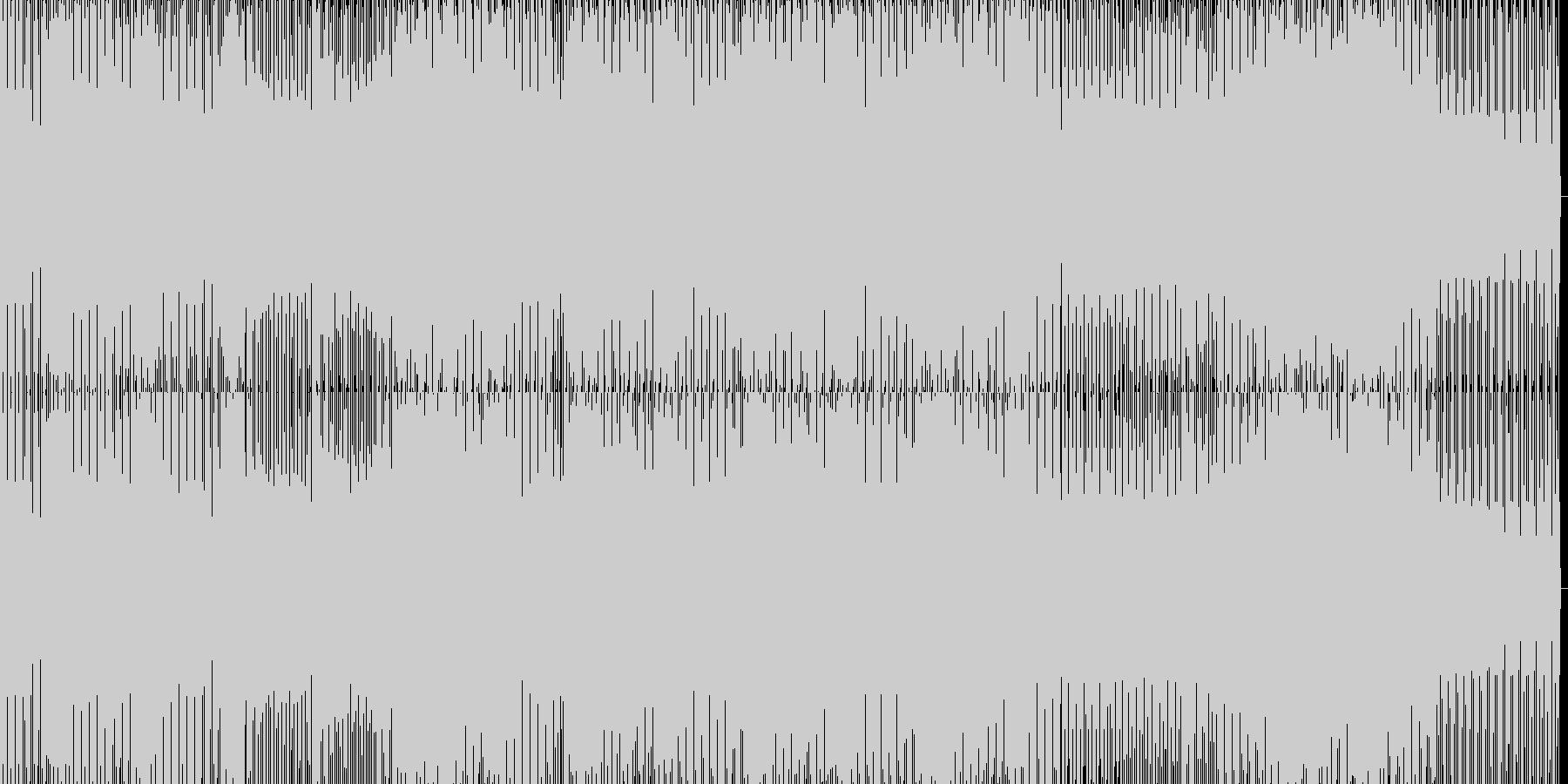 lowな音のハウスの未再生の波形