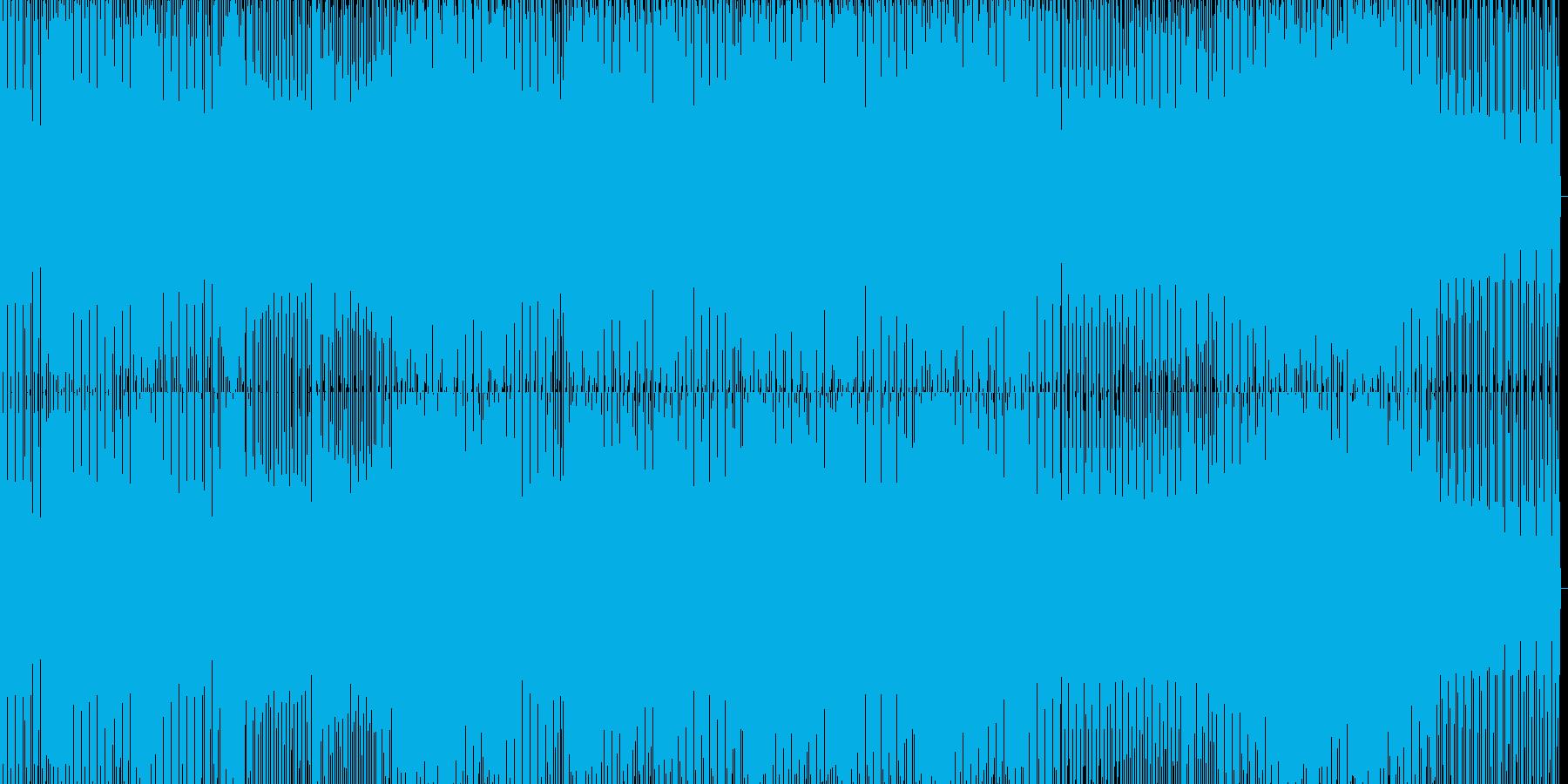 lowな音のハウスの再生済みの波形