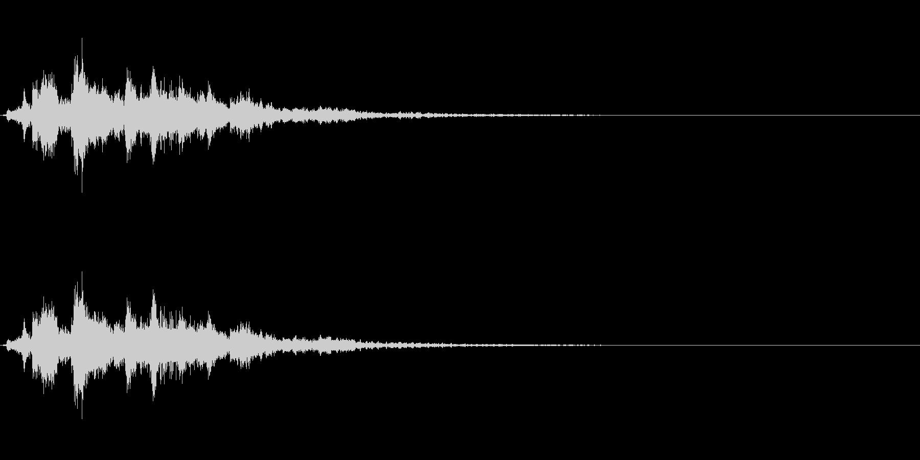 「シャシャシャン」ツリーベル音リバーブ入の未再生の波形