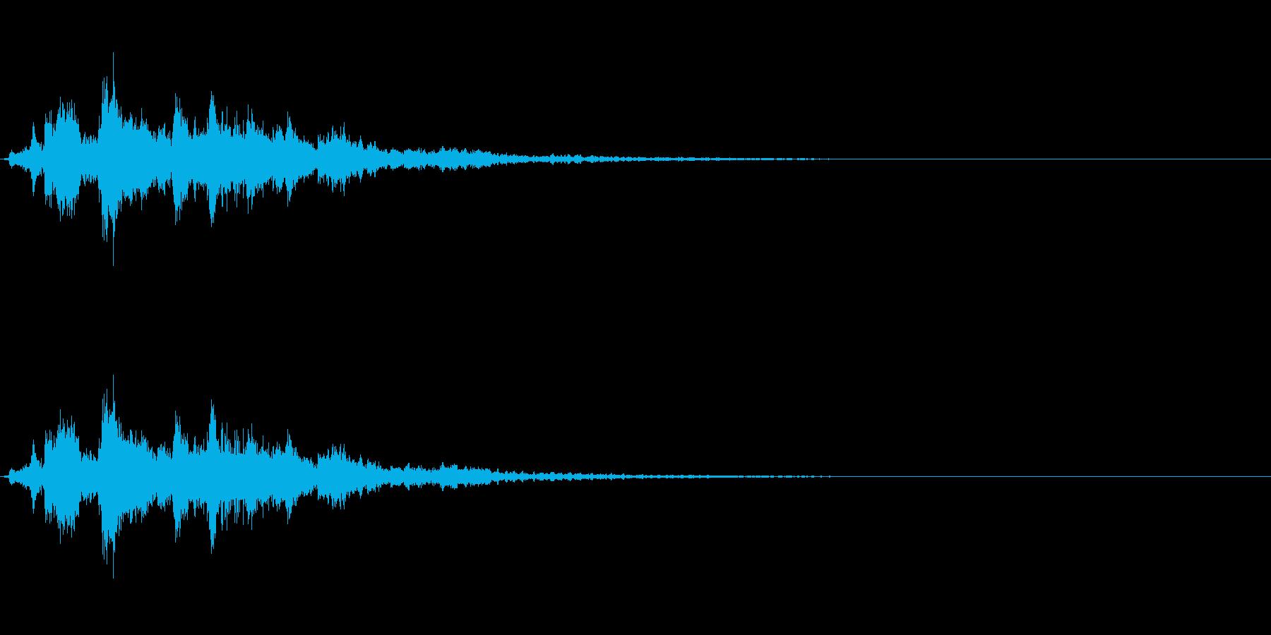 「シャシャシャン」ツリーベル音リバーブ入の再生済みの波形