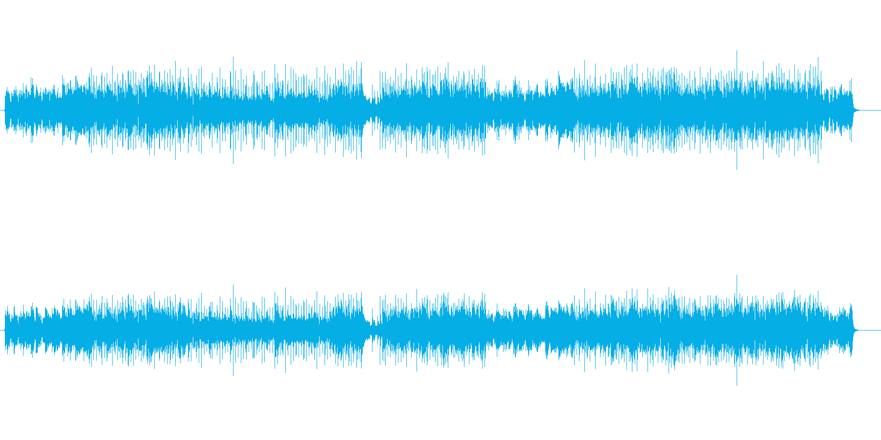 ダイナミックで壮快なテーマ風ポップスの再生済みの波形