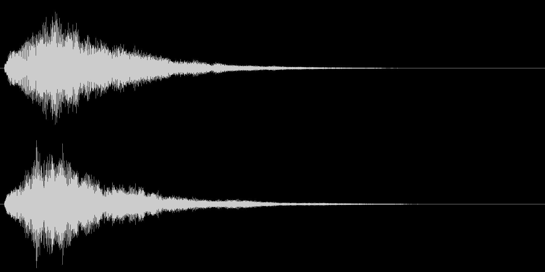 キラキラ シャラランなアタック音1の未再生の波形