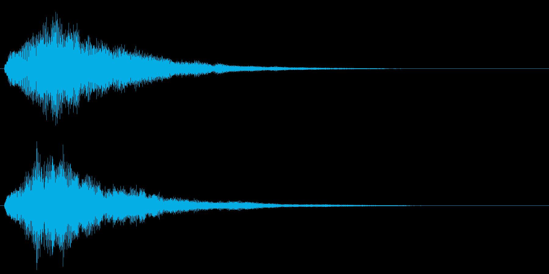 キラキラ シャラランなアタック音1の再生済みの波形