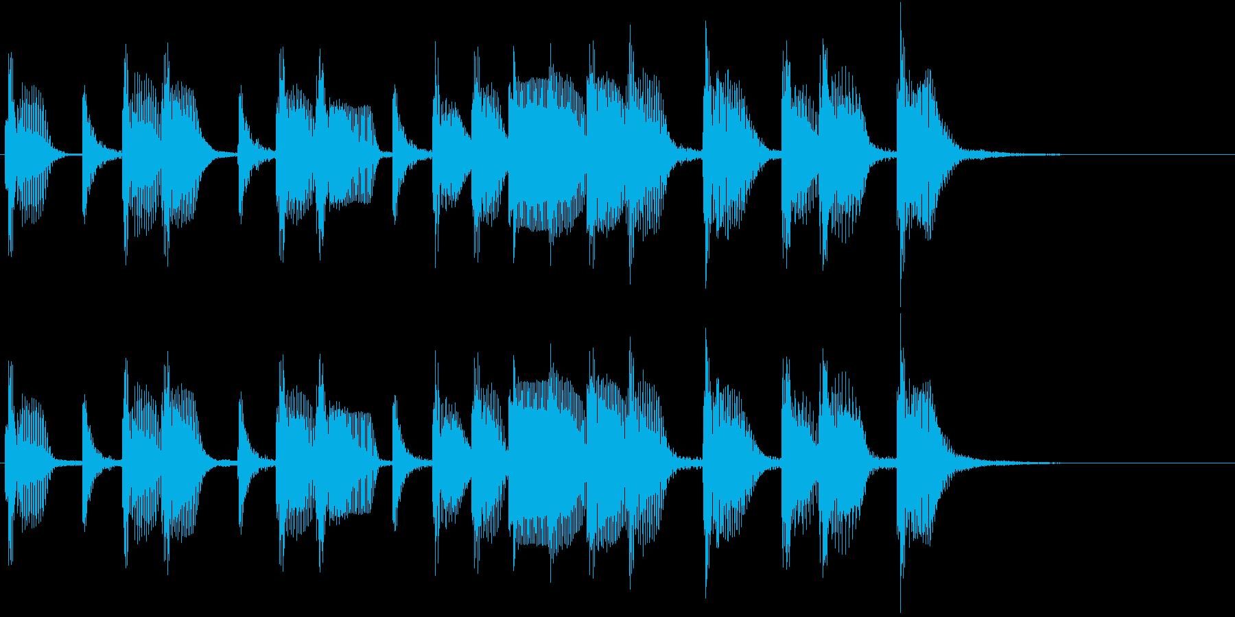 2小節ジングル06 オールディーズ2の再生済みの波形
