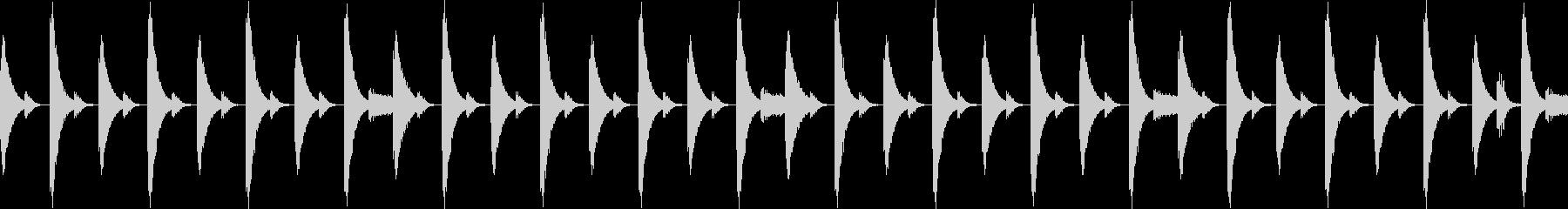 808音源を使用したシンプルなリズム02の未再生の波形