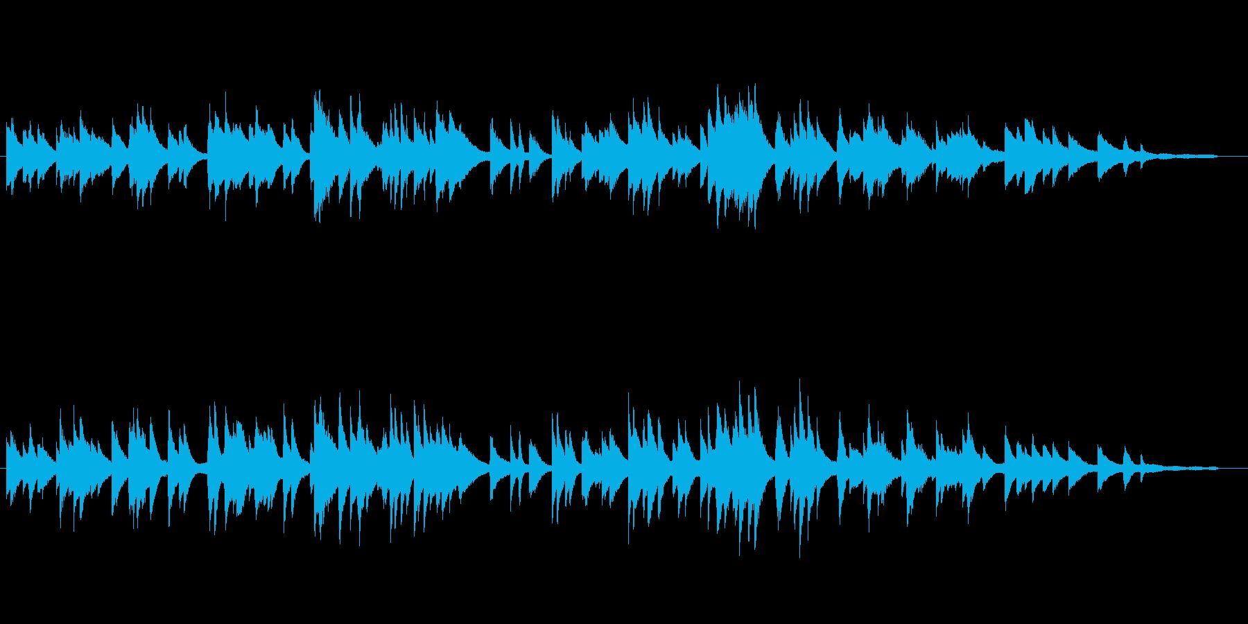 ジャズピアノソロ「いつか王子様が」の再生済みの波形