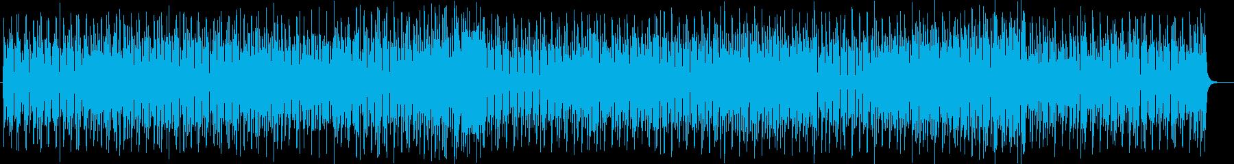宇宙的なシンセサイザーサウンドの再生済みの波形