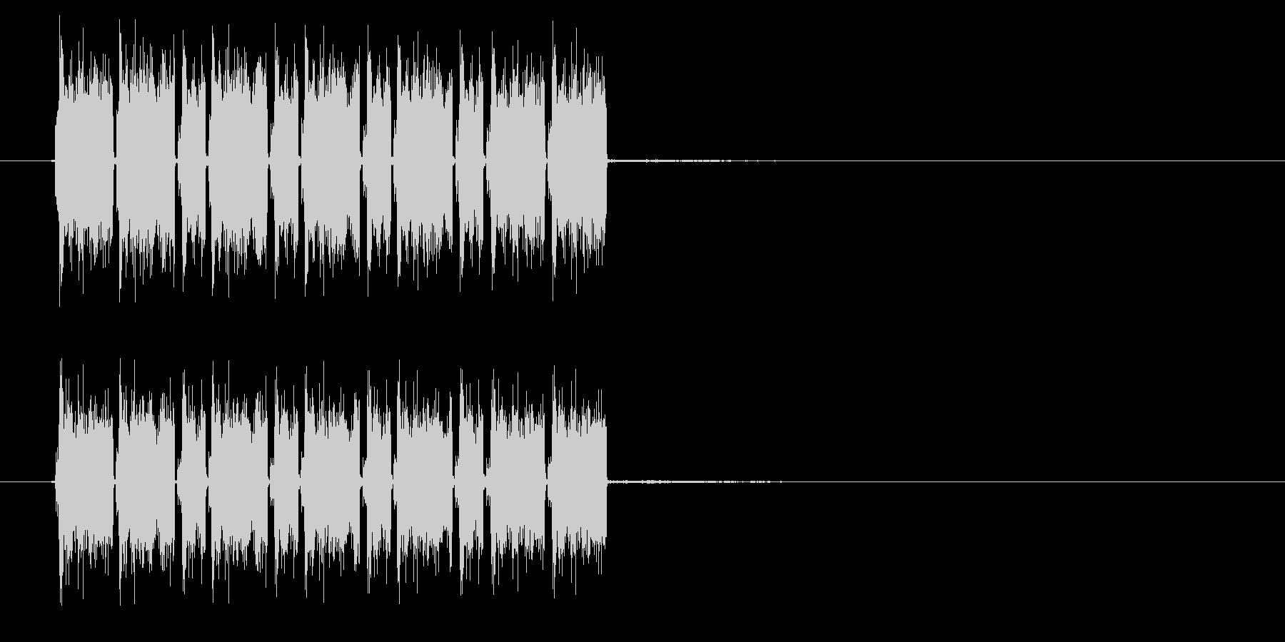 ガザガザガザ(機械的な効果音)の未再生の波形