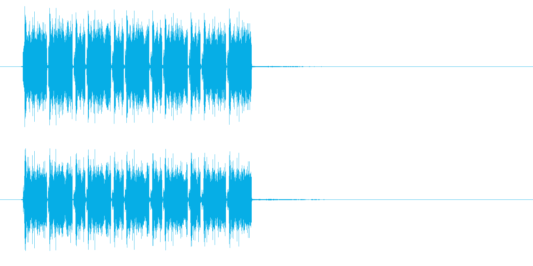 ガザガザガザ(機械的な効果音)の再生済みの波形
