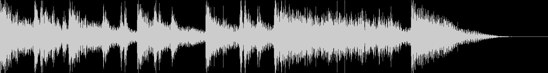 ドラムマーチ風のサウンドロゴの未再生の波形