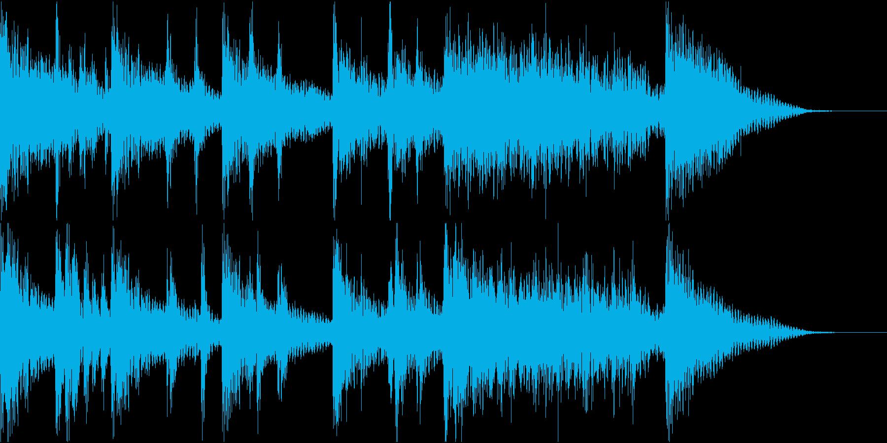ドラムマーチ風のサウンドロゴの再生済みの波形