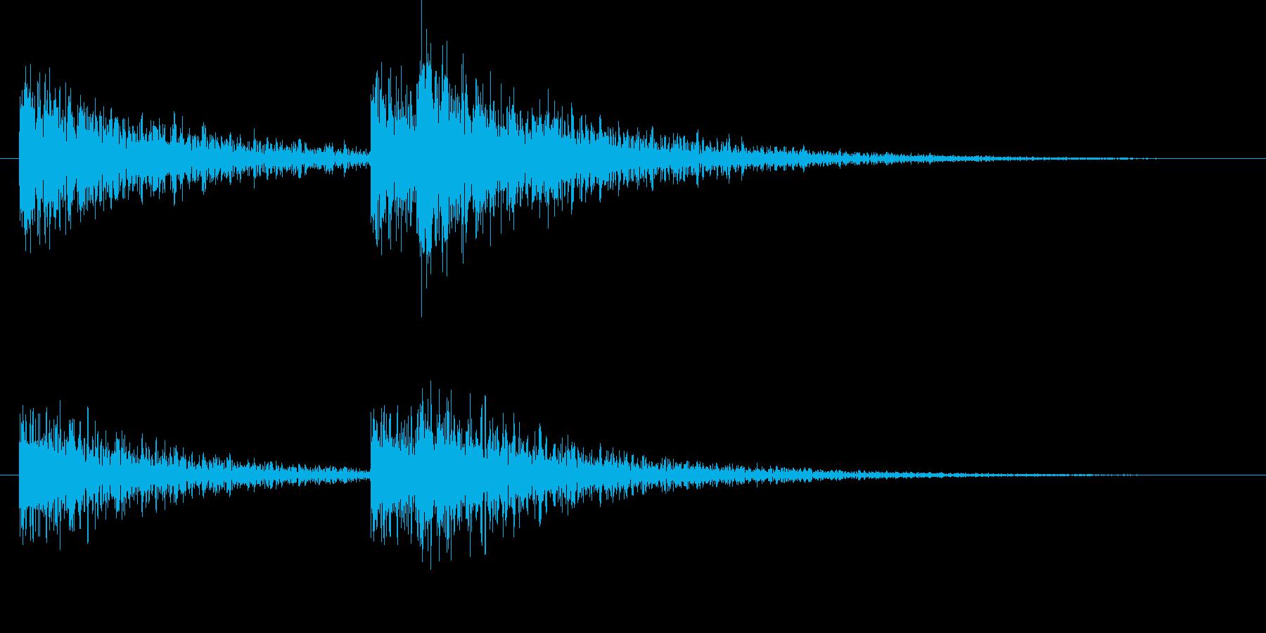 ホラー風のアクセントの再生済みの波形