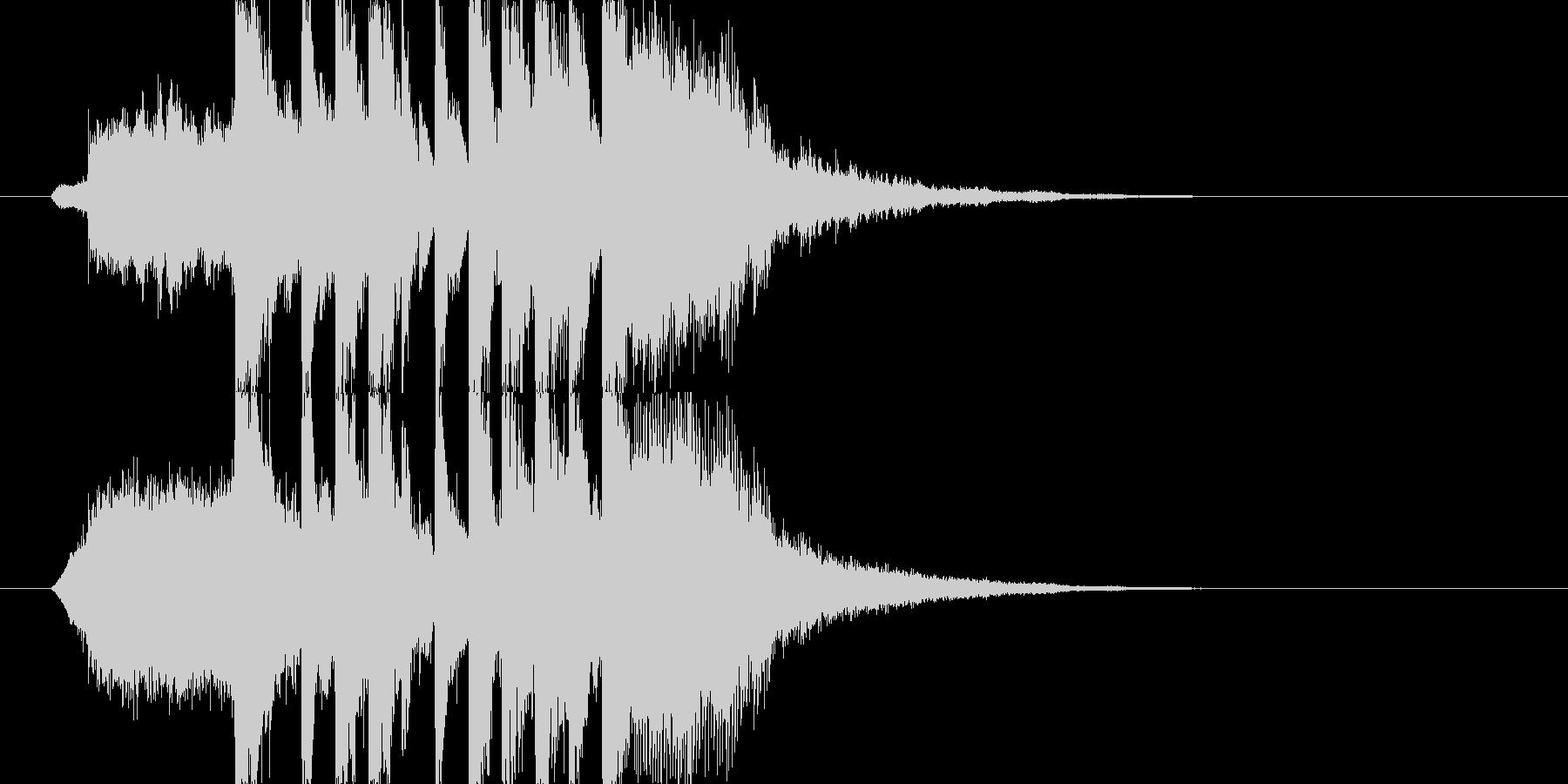 明るくポップなジングル ショート J2の未再生の波形
