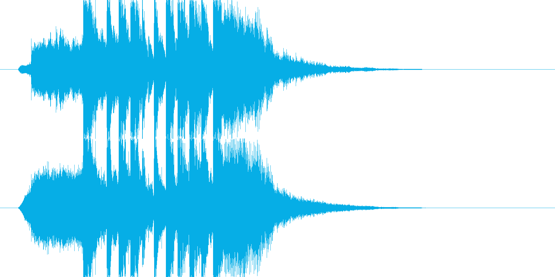 明るくポップなジングル ショート J2の再生済みの波形