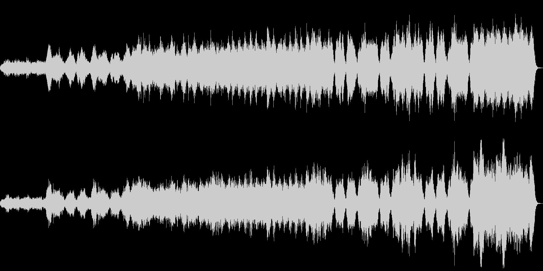 バイオリンソロとハープのオリジナル曲の未再生の波形