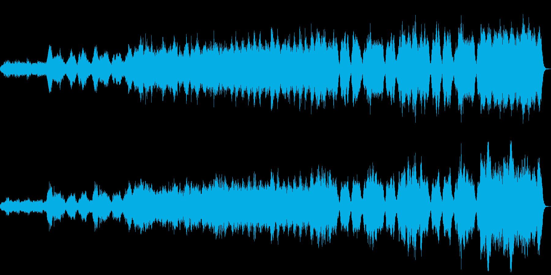 バイオリンソロとハープのオリジナル曲の再生済みの波形