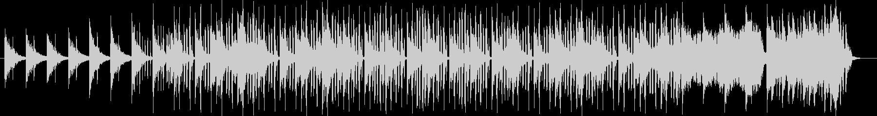 爽やかな透き通るシンセのの音色の曲の未再生の波形