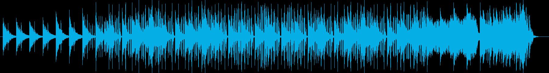 爽やかな透き通るシンセのの音色の曲の再生済みの波形