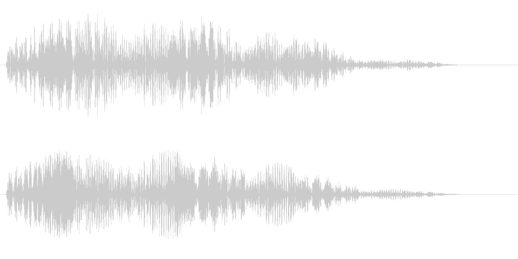 パソコンを起動した時の音の未再生の波形