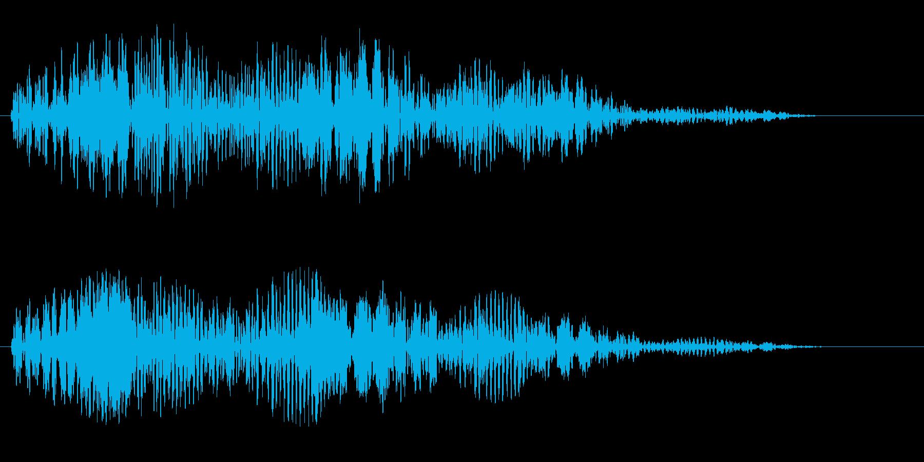 パソコンを起動した時の音の再生済みの波形