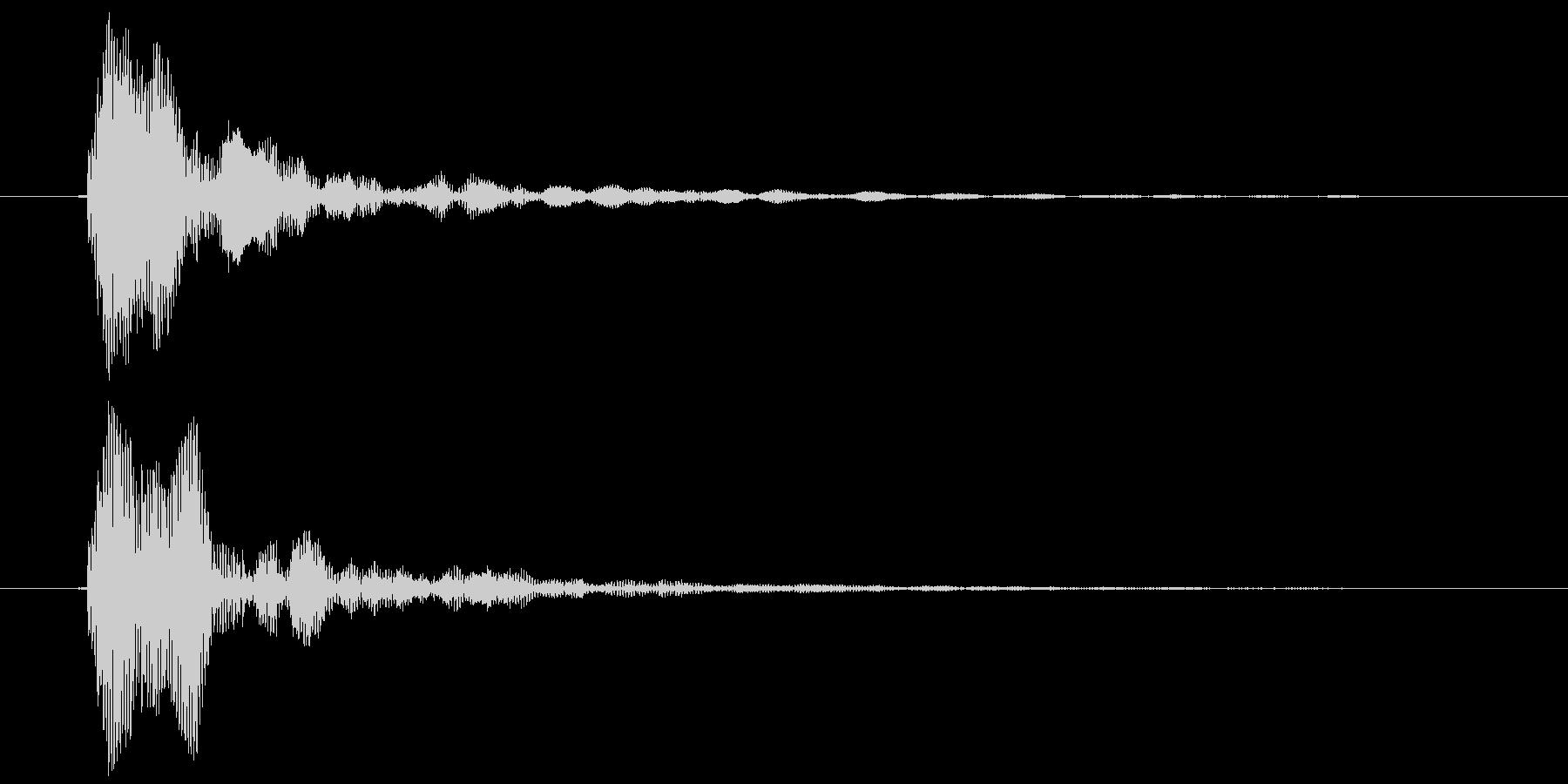 鼓音(よ〜おっ)ポンの未再生の波形