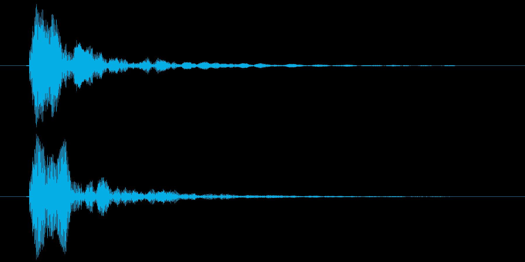鼓音(よ〜おっ)ポンの再生済みの波形