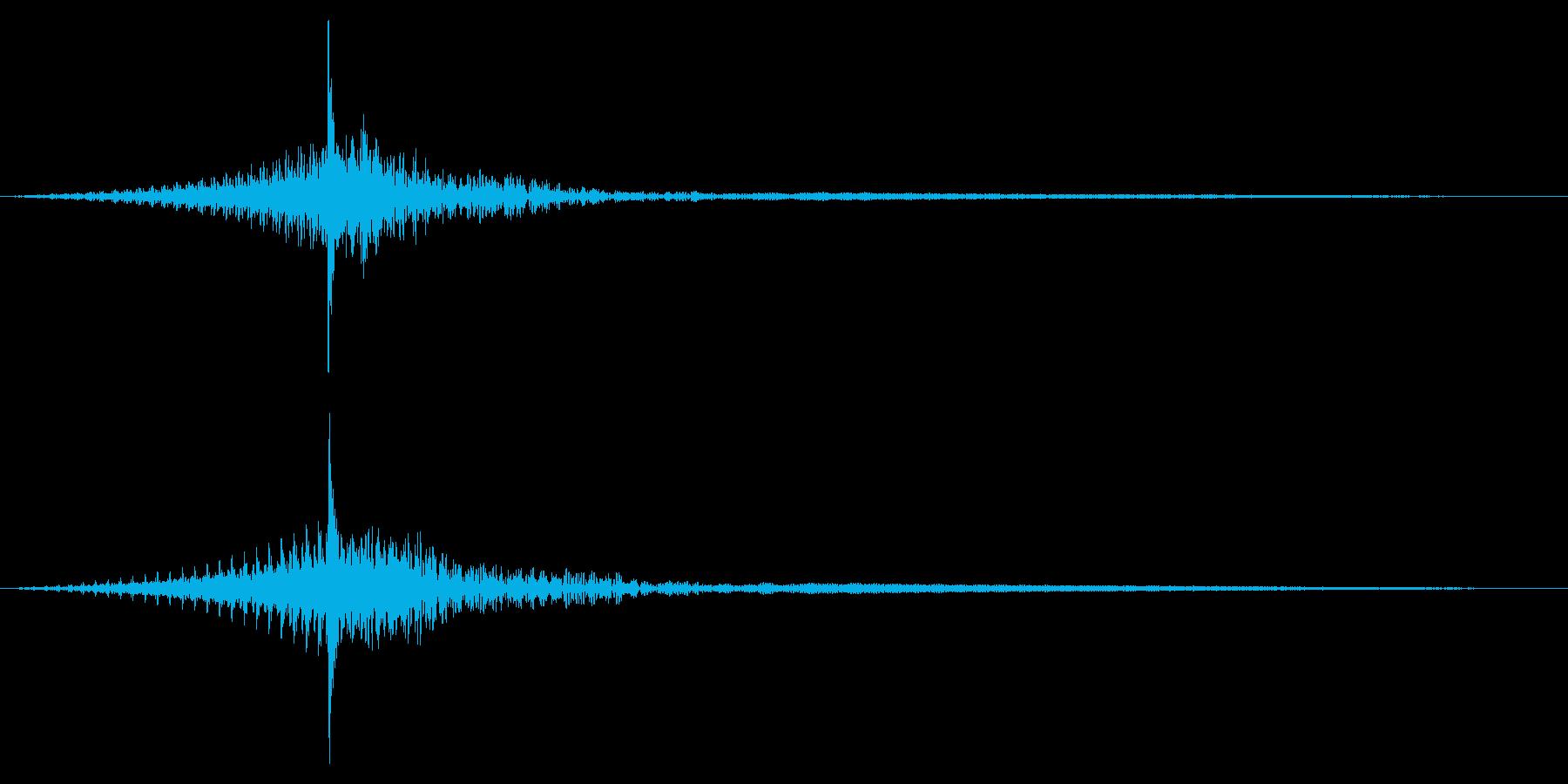 ホラー系アタック音128の再生済みの波形