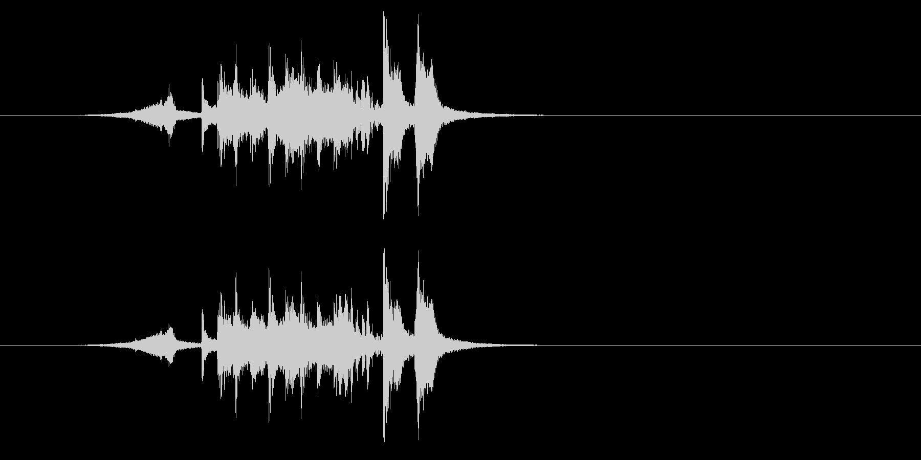 アタック感の強いホーン・セクションの未再生の波形