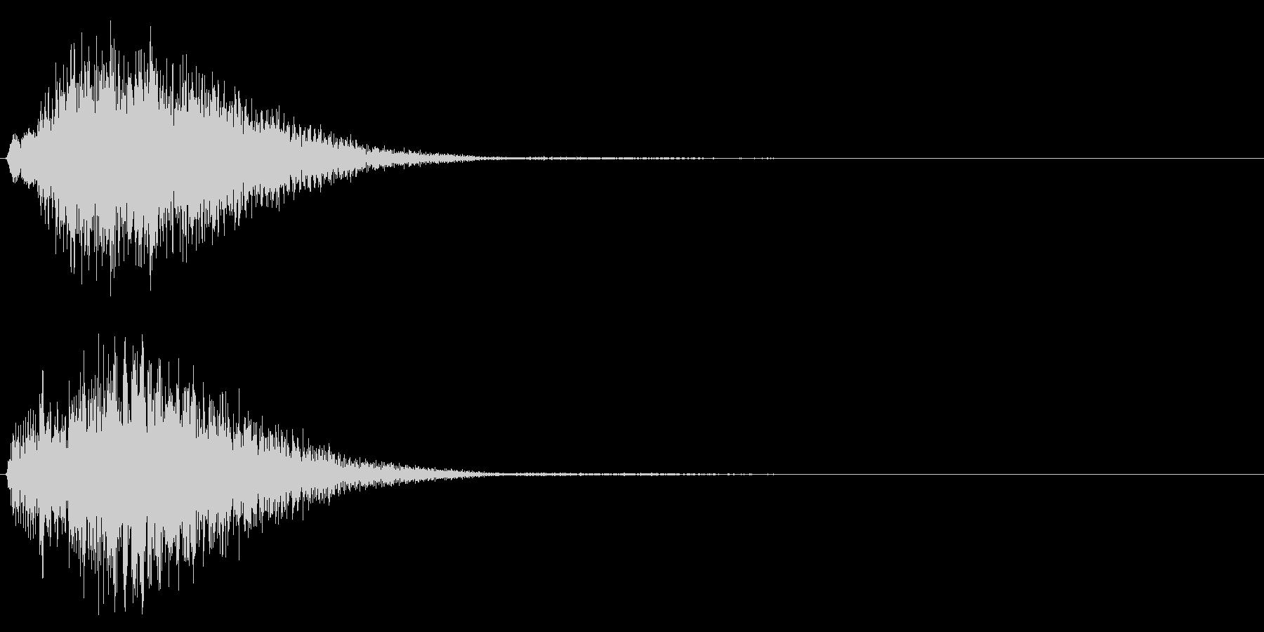 決定/テロップ/上昇系/クリーンの未再生の波形