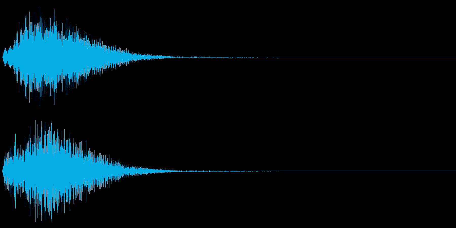 決定/テロップ/上昇系/クリーンの再生済みの波形