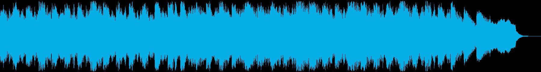 生録りコーラスを使用したホラーBGMの再生済みの波形