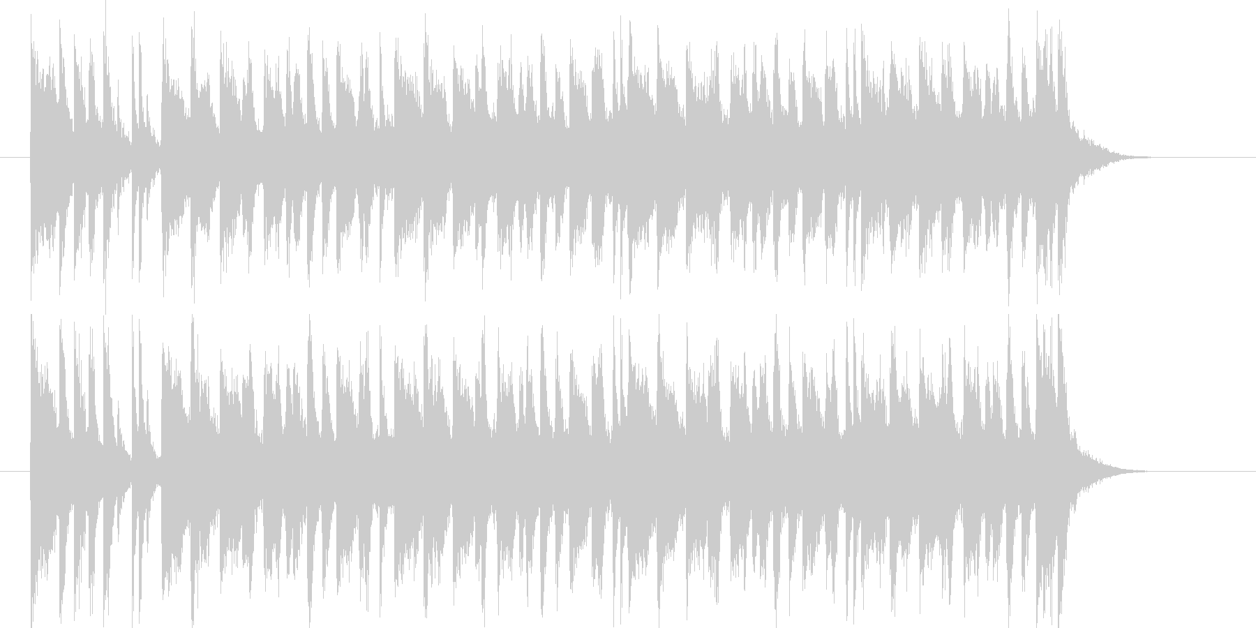 軽快でリズミカルなポップスの未再生の波形