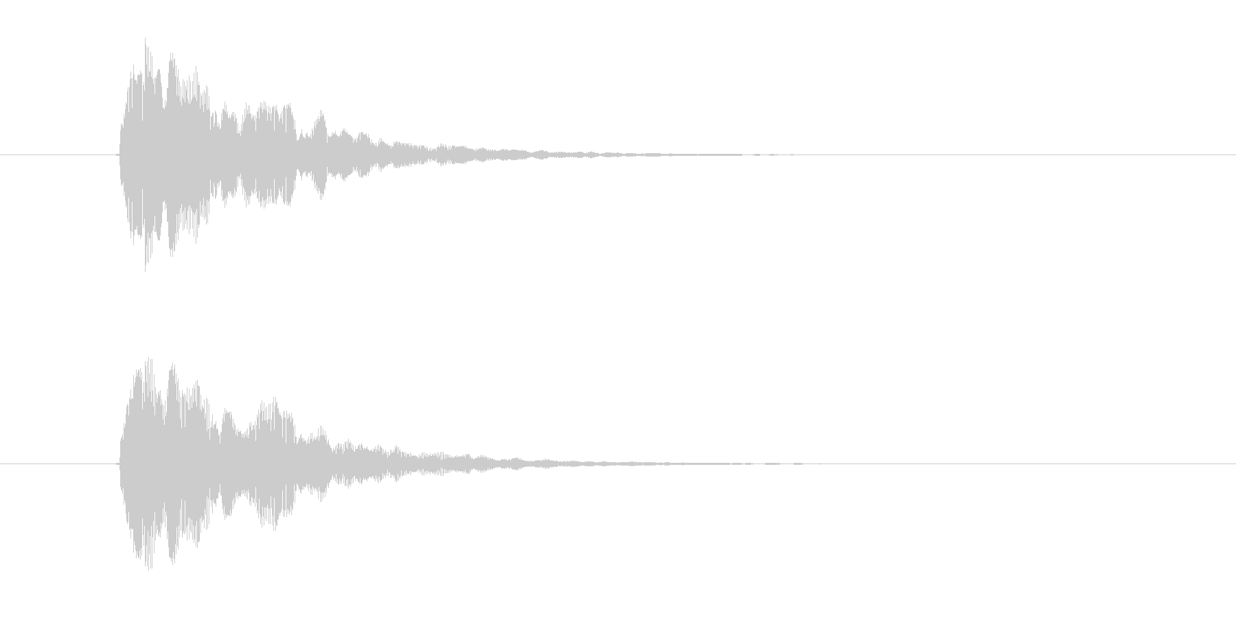 ビョワーン!アナログシンセなジングルの未再生の波形
