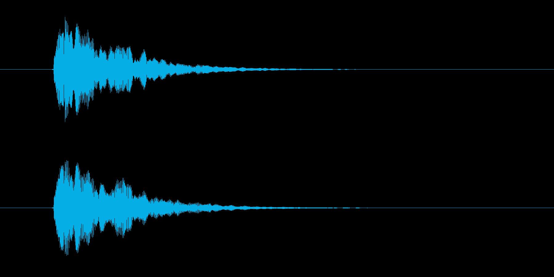 ビョワーン!アナログシンセなジングルの再生済みの波形