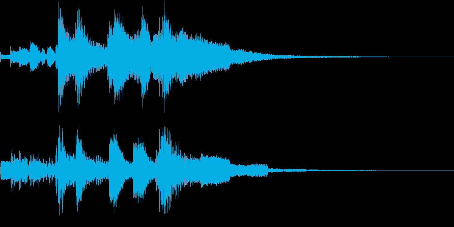 キラキラとした可愛いジングルの再生済みの波形