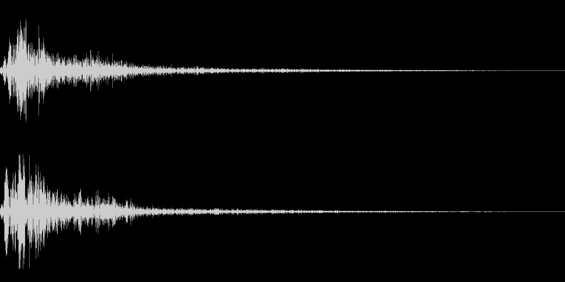ホワッという近未来的な音です。の未再生の波形