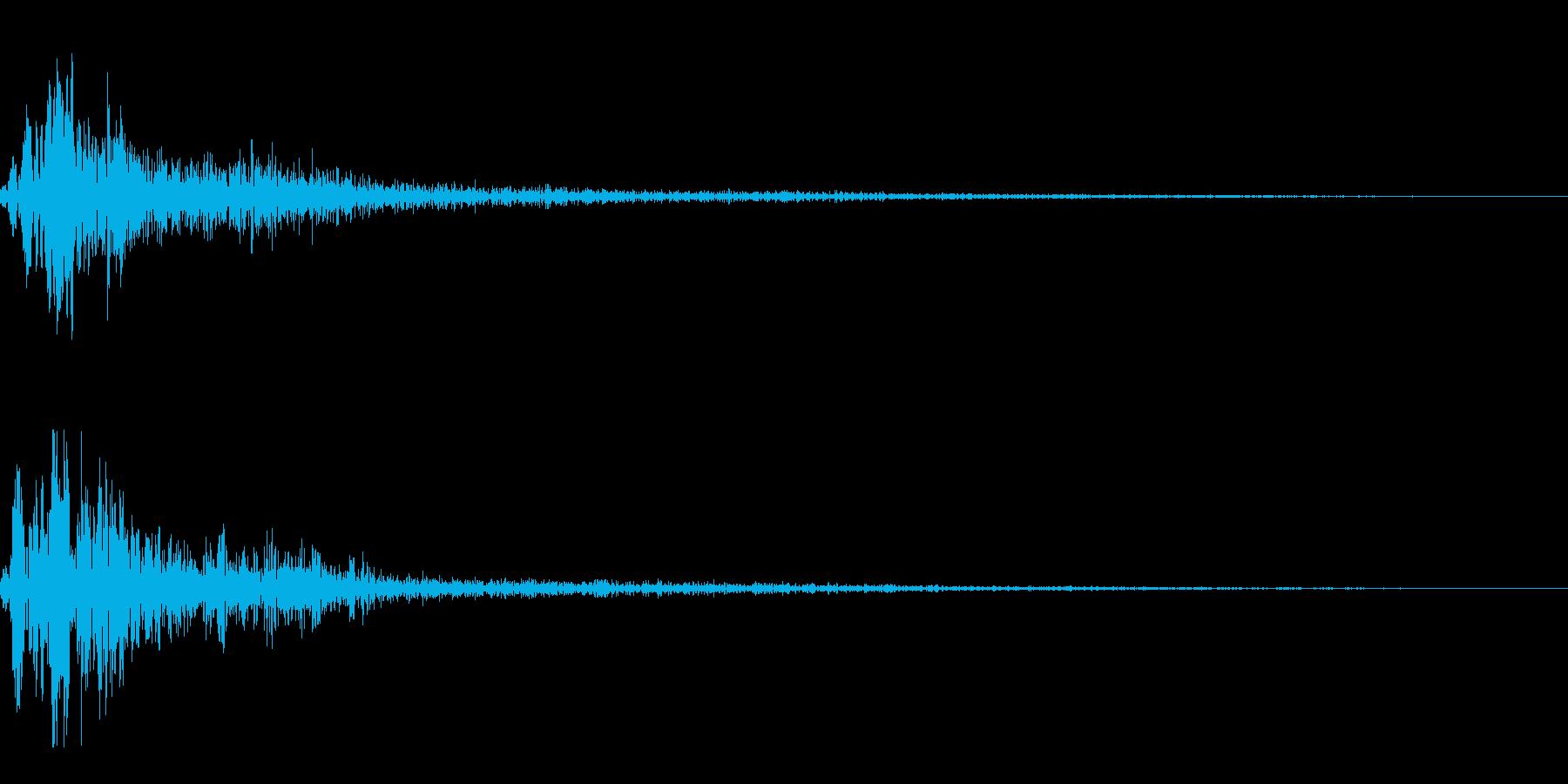 ホワッという近未来的な音です。の再生済みの波形