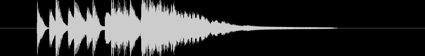 マリンバとピアノのポップなジングルの未再生の波形