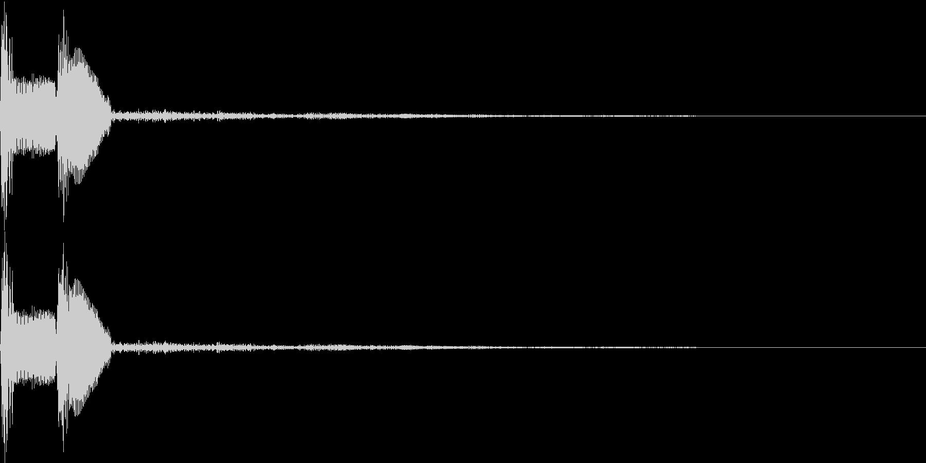 ピコ(出現、カーソル、ボタン)の未再生の波形